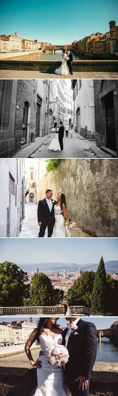 Incredible wedding portraits set in the heart of beautiful and historic Florence, bride wearing Lazaro Wedding Planner dress, wedding planned by The Tuscan Wedding. http://www.thetuscanwedding.com/