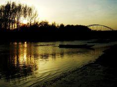 """Sunset on the river Tamis"" by Rastko Radivojev Framed Wall Art, Wall Art Prints, Buy Prints, Rivers, Sunset, Canvas, Lakes, Artist, Poster"