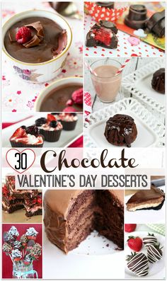 When I think of Valentine's Day, I think of Chocolate Valentine's Desserts. What could be better than dessert recipes make with chocolate? When you need to bring food to a party for Valentine's Day, choose one of these fabulous easy recipes make with chocolate!