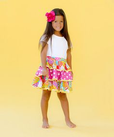 Take a look at this Happy Summertime Skirt - Toddlers and Girls by Jelly the Pug on #zulily today!