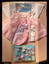 Vintage Dy Dee Baby Doll Display Card w Orig Dress Effanbee