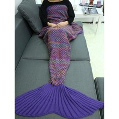 24.98$  Watch now - http://di8i2.justgood.pw/go.php?t=202073803 - Handmade Crochet Rhombus Design Sleeping Bag Mermaid Blanket 24.98$