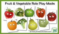 Lots of popular role play printables to download for the Foundation Phase - Early Years -  KS1 - kindergarten - Pre-School Primary Resources, Teaching Resources, Teaching Ideas, Role Play, Fruits And Vegetables, Pre School, Harvest, Foundation, Arts And Crafts
