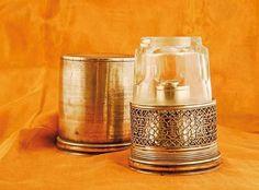 """Rare """"lampe à opium"""" de voyage en paitung."""