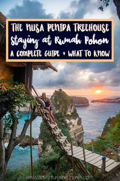 Staying at Rumah Pohon, the Nusa Penida Treehouse: A Complete Guide + What you need to know before you go! Many people visit this photo-famous treehouse just for the Instagram pic. But would you spend the night here? Here's what to know before you decide! Hint: best sunrise EVER! #sunrise #nusapenida #bali #treehouse