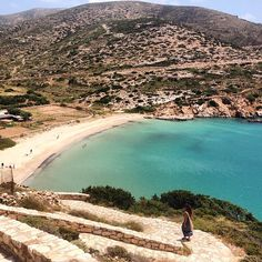 Explore this wonderful Kedros bay , at Donousa island (Δονούσα) ☀️. Great sandy beach & crystal clear water . Feel the nature .