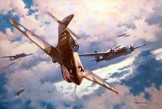 The Legend Begins, by Roy Grinnell (P-40B 'Flying Tigers' vs Kawasaki Ki-48 'Lily')