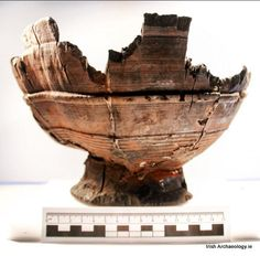 A circa 10th/11th century turned wooden bowl from Viking Age, Dublin. It is fashioned out of Alder wood and was found at Fishamble Street