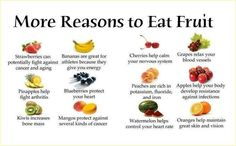 "Just in case you need more reasons to eat fruit, other than because your mother told you so or ""an apple a day keeps the doctor away"", here is a short list of fruits and just a few of the health be. Ayurveda, Apple Help, Healthy Tips, Healthy Recipes, Healthy Foods, Stay Healthy, Eating Healthy, Healthy Choices, Healthy Habits"