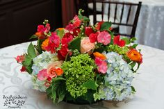 A closer look at the dining room centerpieces