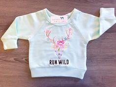 Run Wild, Skull, Boho, Hippie, Floral, Baby, Girl, Infant, Toddler, Newborn…