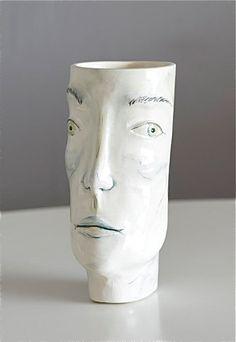 Face Vase, handmade