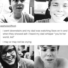 @5sosashtonirwin you are the whole 5SOS Fam's world. We love you to pieces. Everything form your giggle to your keeks.