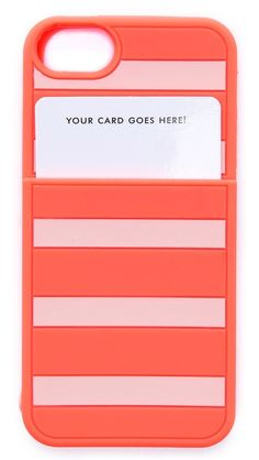 This would be perfect for my id/key card...if I had an iPhone!  Kate Spade New York Gabrielle Stripe Pocket iPhone 5 / 5S Case
