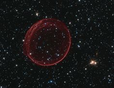 Celestial bubble, gaseous envelope formed by blast wave from a supernova going through interstellar medium