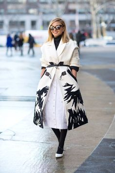 5 days into NYFW, and the looks don't disappoint. Love the coat!