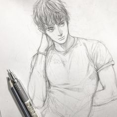 Really good character design Anime Drawings Sketches, Cool Sketches, Pencil Art Drawings, Cool Art Drawings, Realistic Drawings, Anime Sketch, Cartoon Drawings, Cartoon Art, Boy Drawing