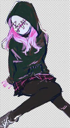 Me Anime, Anime Manga, Kawaii Anime, Cute Anime Pics, Anime Girl Cute, Horror Movie Characters, Anime Characters, Jake Park, Gas Mask Art