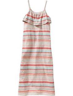 Girls Striped Jersey Sundresses