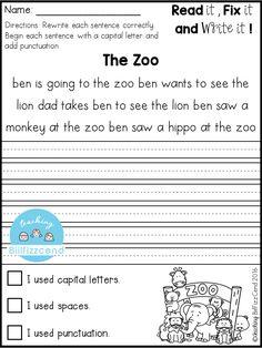 61 Best Sentences First Grade images in 2019 | Kindergarten writing ...