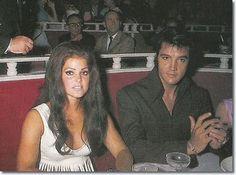 Elvis and Priscilla attend a Barbara Streisand show at the International Hotel, Las Vegas 1969