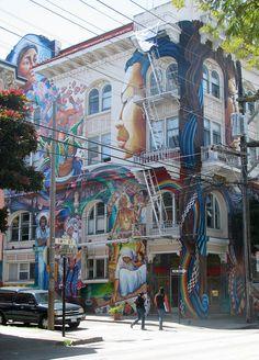 San Francisco Murals   Mission District San Francisco, USA   Day's_eye   Flickr
