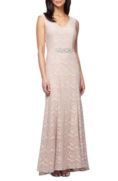 9828b16eb4e Alex Evenings Embellished Lace Mermaid Gown (Regular   Petite)