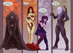 batman, poison ivy, harley, mr freeze, seasonal issues