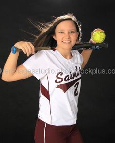 Senior softball pictures If you're trying to find hairstyles that could cause you to comfortable Senior Softball, Softball Players, Girls Softball, Senior Girls, Softball Uniforms, Softball Drills, Softball Stuff, Softball Team Pictures, Baseball Pictures