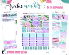 March Monthly – Free Printable – BEaYOUtiful Planning
