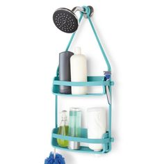 Umbra Flex Shower Caddy - Surf Blue - bathroom storage