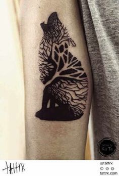 Tatuajes de lobos , ideas y simbolismo