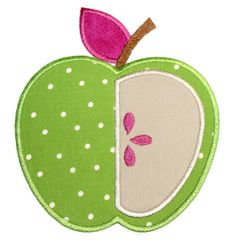 Apple 3 Machine Embroidery Applique Design. $4.00, via Etsy.