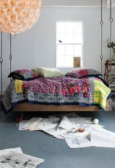 Anthropologie Barnwood Bed