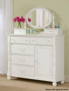 Olivia Soft White Bureau - click to enlarge