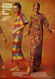 Holiday hostess dresses gowns to make - Women's Day magazine Dec 1967 Ol Fashion, 1960s Fashion, Kids Fashion, Vintage Fashion, Kaftan, 1960s Dresses, Long Dresses, Fashionable Hostess, Dedicated Follower Of Fashion
