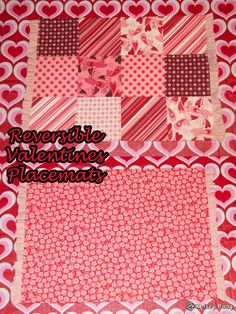 Kelsey Bang: easy reversible VALENTINES placemats