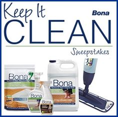 Bona 'Keep It Clean' Instant Win Game WIN a Bona Mop, a Year of Cleaning Services or a Trip to HAWAII! Enter DAILY-Ends 5/22