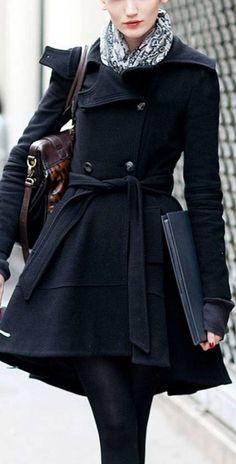 Inverno - a estação do charme: 24 modelos de casaco clássico  - www.defrenteparaomar.com