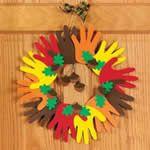 Fun Kids Fall Crafts - Autumn Handprint Wreath Craft Kit