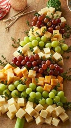 Christmas tree cheese board [ TraditionsByDJT.com ]