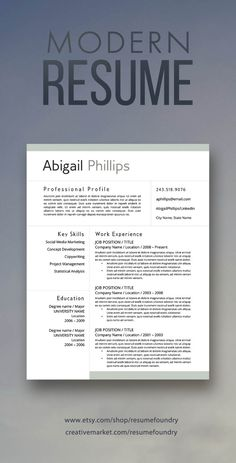 Simply put, a resume is a one- to two-page document that sums up a job seeker's qualifications for the jobs they're interested in. More than just a formal job application, a resume is a… Job Resume, Resume Tips, Resume Examples, Resume Ideas, Student Resume, Modern Resume Template, Resume Template Free, Creative Resume Templates, Templates Free