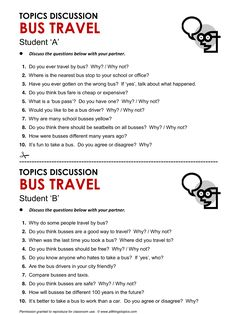 Bus Travel, English, Learning English, Vocabulary, ESL, English Phrases, http://www.allthingstopics.com/bus-travel.html
