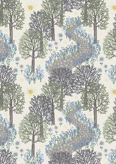 Half metre Lewis & Irene Patchwork Quilting Fabric A126.1 Morning in Bluebell Wood