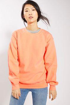 Fluro Sweatshirt - Tops - Clothing - Topshop