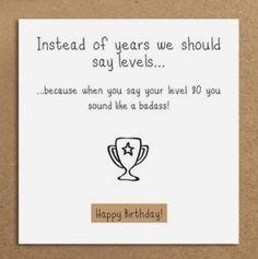 """Birthday """"Level 80 is badass"""" 😆.*"""