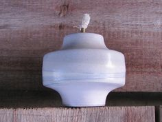 Vintage Oil Lamp Scandinavian Vintage Pottery by OLaLaVintage