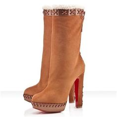 Professional And Unique Style Christian Louboutin Step N Roll 140mm Boots Camel In Our Online Store Will Touch Your Heart! CL