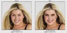 Digital beauty makeover with makeup.  http://www.freephotoediting.com/samples/photo-glamourisation/016_make-up-and-glamorisation-of-young-woman.htm