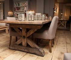 Dining inspiration Interior Inspiration, Dining Table, Rustic, Furniture, Collection, Home Decor, Country Primitive, Decoration Home, Room Decor